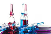 Asorted ampoules of different colors — Stock Photo