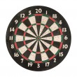 Dartboard isolated, clipping path. - Stock Photo