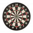 Dartboard isolated, clipping path. — Stock Photo