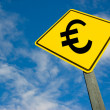 Royalty-Free Stock Photo: Euro on road sign.