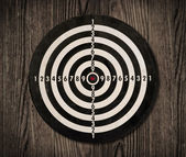 Dartboard on wooden wall, clipping path. — Stock Photo