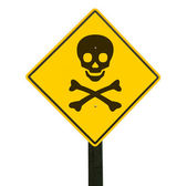 Warning sign, clipping path. — Stock Photo
