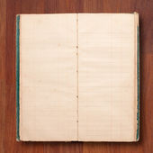 Open blank page note book — Stock Photo