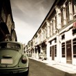 Beetle van in old city1 - Stock Photo