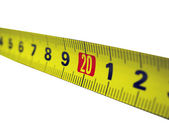 Direct measuring tape — Foto Stock