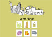 The bags — Stock Vector