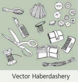 Haberdashery — Stock Vector