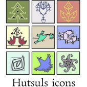Hutsuls icons — Stock Vector