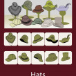 Hats — Vettoriali Stock