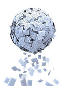 Document sphere — Stock Photo