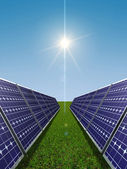 Solar power concept — Stock Photo