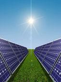 Conceito de energia solar — Foto Stock