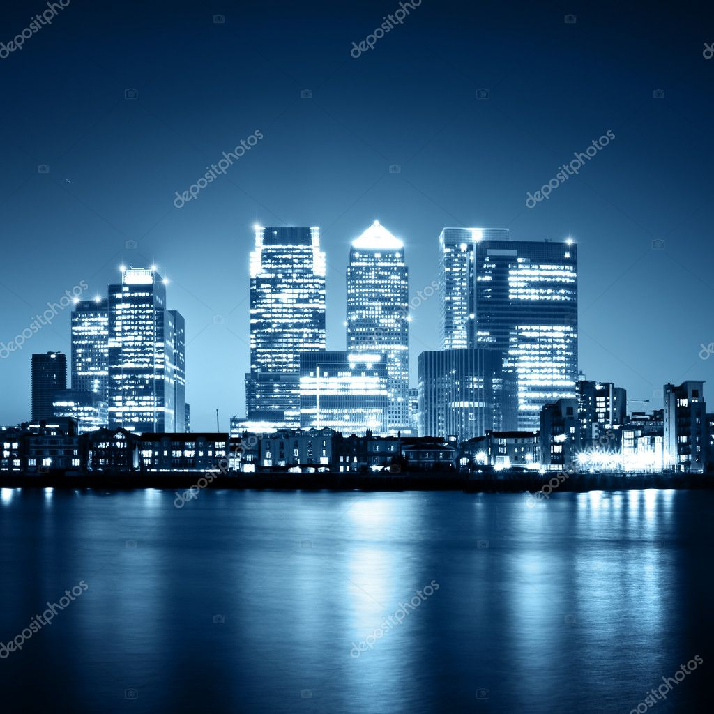 Canary Wharf view from Greenwich.  — Stock Photo #3793843