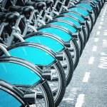 Bikes for rent, London — Stock Photo