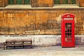 Rode telefooncel — Stockfoto