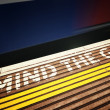 MIND THE GAP - Stock Photo