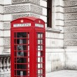 Red phone box - Stock Photo