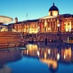 Trafalgar Square, London. — Stock Photo