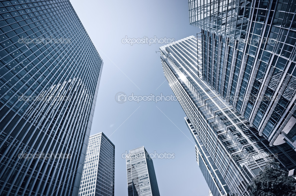 Toned picture of Canary Wharf, London.  Stock Photo #3855909