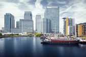 Canary wharf, londen. — Stockfoto
