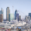 City of London`s skyline - Stock Photo