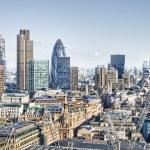 City of London`s skyline — Stock Photo