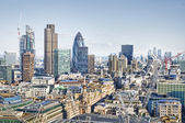 City of London`s skyline — Fotografia Stock