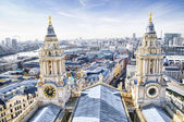 City of London and St. Paul`s Cathedral. — Stock Photo