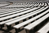 Old amphitheater with white marble seats — Stock Photo