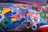 Graffiti Inca in San Francisco — Stock Photo
