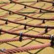 Big red ropes in a playground, for children — Stock Photo