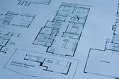Blueprint of house — Stock Photo