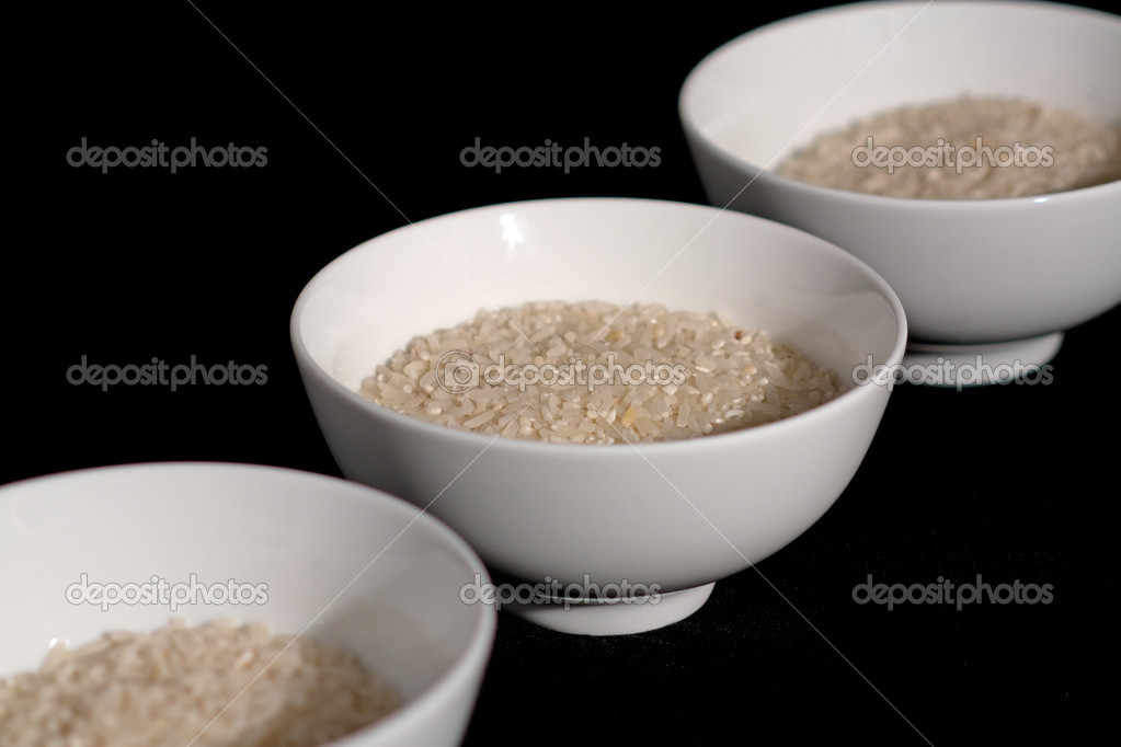 Bowls with rice — Stock Photo #3843568