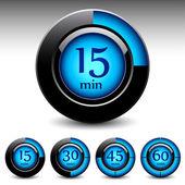 计时器显示 interfase. — 图库矢量图片
