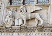 Winged lion with the book — Stock Photo