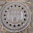 Manhole cover in the Czech — Photo
