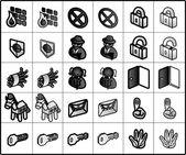Security icon (vector) — Stock Vector