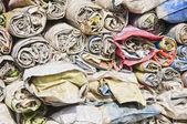 Folded Sacks — Stock Photo