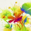 Flower painting — Stock Photo