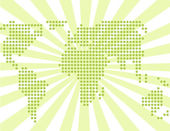 Abstarct green world — Stock Vector
