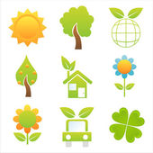 Colorful nature icons — Stock Vector