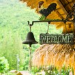 Foto Stock: Welcome sign