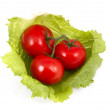 Royalty-Free Stock Photo: Tomatoes and lettuce.