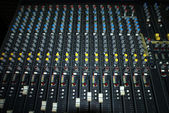 Mixing console in a regording studio — Stock Photo