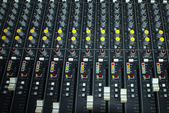 Mixing console in a recording studio — Stock Photo
