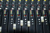 Mixing consol in a audio regording studio — Stock Photo