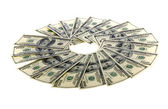 Circle of One Hundred Dollar Bills: Two Thousand — Stock Photo