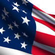 USflag render — Stock Photo #3816759