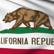 California flag - USA state flags collection — Stok fotoğraf
