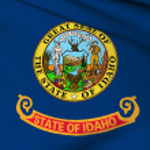 Idaho flag - USA state flags collection — Stock Photo
